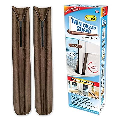 Twin Draft Guard Insulating Device, 2-Count (Door Odor Blocker)