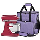 Luxja Portable Storage Bag for KitchenAid Mixers and Extra Accessories (Compatible with All 6-8 Quart KitchenAid Mixers), Purple