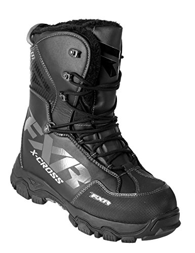 FXR X-CROSS Lace-up Snowmobile Boots Black OPS-Mens 12/EU46