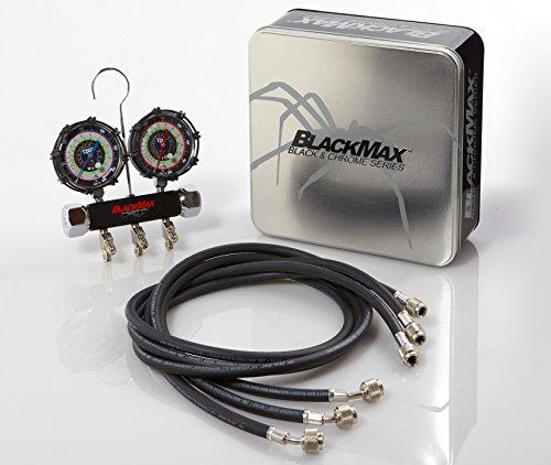 CPS MBH4P5Z Blackmax Triple Seal 2 Valve Manifold, with 5' Premium Hoses (Quot Metal Hose)