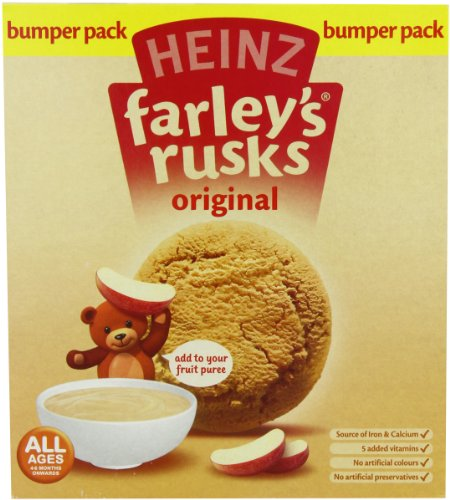 Heinz Farley's Rusks, Original Flavor, 300g Boxes (Pack of 6)
