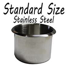 Cup Holder Stainless Steel Standard Size Poker Table Lot of 10 drink holders