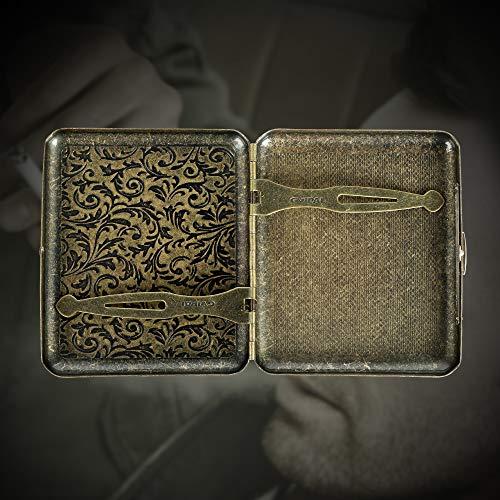 Metal cigarette case for women
