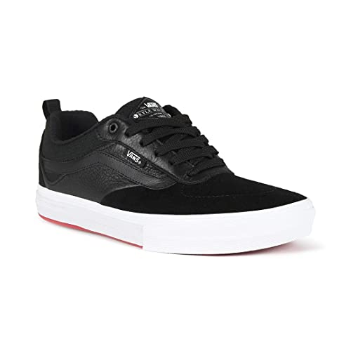 419d0a5d97c Vans Kyle Walker Pro Black Red Skateboarding Suede Leather Canvas Shoes (US  D 7)