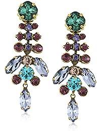 Multi-Cut Crystal Statement Drop Earrings