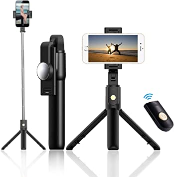 1AA Bluetooth Selfie Tripod Stand para Teléfono Cross-Beat ...