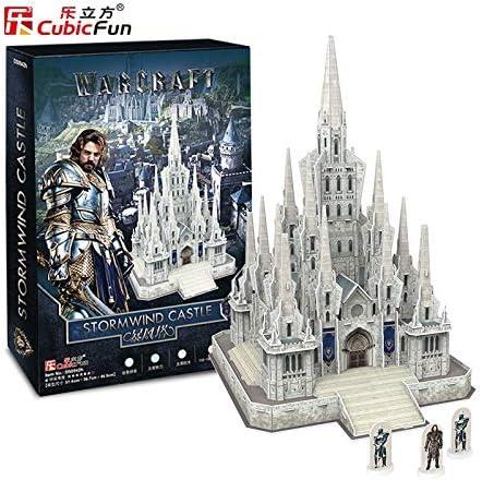 CubicFun - Puzzle 3D - Warcraft Stormwind Castle - Castillo en 3D para ser montado - 301 Piezas - DS0942H: Amazon.es: Juguetes y juegos