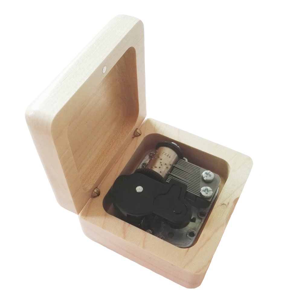 【現品限り一斉値下げ!】 18 NoteレトロWind - NoteレトロWind Up Wooden Up Musicalボックス シルバー、音楽ギフトボックス、Ode to Joy音楽ボックス シルバー B075KH5KRC Maple & Silvery, 無農薬栽培食品 スローフーズ:f1370391 --- arcego.dominiotemporario.com