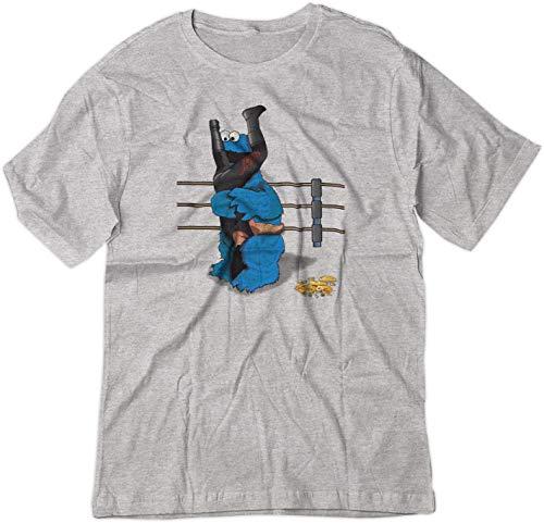 BSW Men's Cookie Monster Undertaker Wrestling Tombstone Shirt 2XL Sport Grey