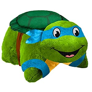 """Pillow Pets Nickelodeon TMNT, Leonardo, 16"""" Teenage Mutant Ninja Turtles Stuffed Animal Plush Toy"""