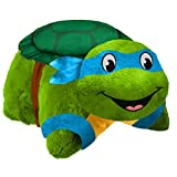 Pillow Pets Nickelodeon TMNT, Leonardo, 16'' Teenage Mutant Ninja Turtles Stuffed Animal Plush Toy