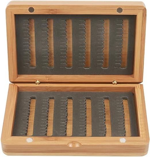 Almabner Caja de Moscas de Madera de bambú clásica para Pesca con ...