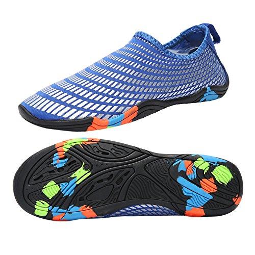 599556392382 Taigele Mens Womens Water Shoes Barefoot Quick-Dry Aqua Socks Slip On for  Beach Swim