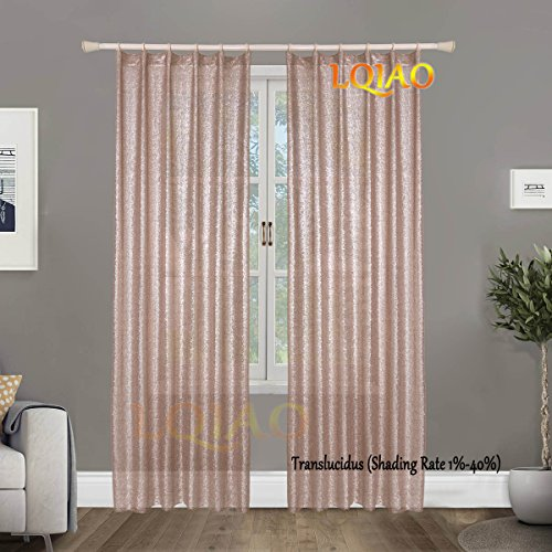 LQIAO 2017 New Sequin Champagne Curtains 50x63in Sparkly Champagne Fabric Photography Backdrop for Bedroom, Kitchen, Kids Room or Living Room,1 Panel Drapes 50-Inch-by-63-Inch Hooks Style Possible ¡­