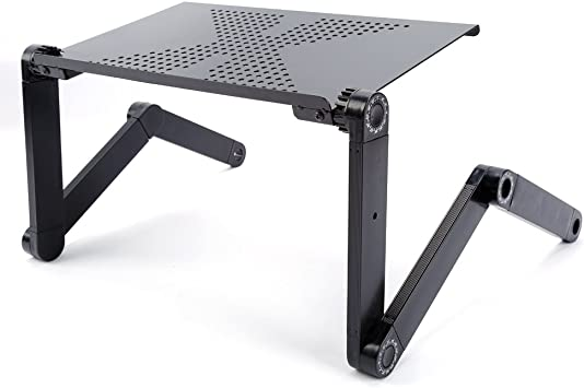 Portable Laptop Desk Notebook Stand Table Tray with Mouse Holder Sofa Bed Black Laptop Desk