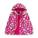 Mallimoda GirlsHooded Jacket Fleece Liner Waterproof Outdoor Coat Outwear
