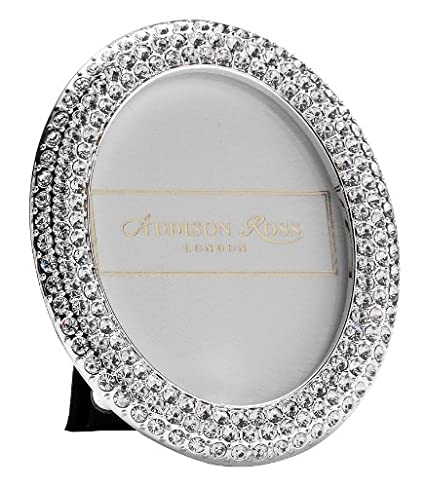 Amazon.com - Addison Ross, Diamante Bling Photo Frame, 2.5x2.5, Oval ...