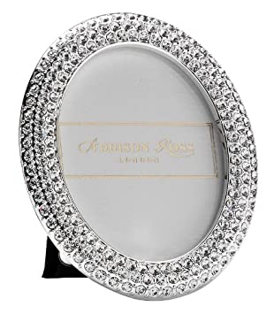 addison ross diamante bling photo frame 25x25 oval 25