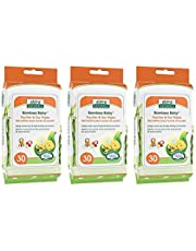 Aleva Naturals Bamboo Baby Pacifier & Toy Wipes 90 Count (Pack of 30 x 3)