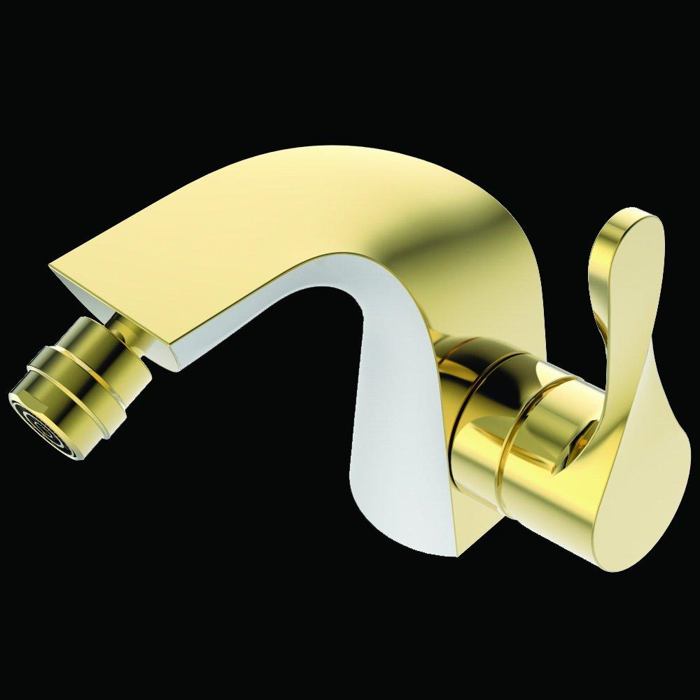 Lux-aqua WDQ46443AW Bidetarmatur, Gold/Weiß KLJ-GmbH