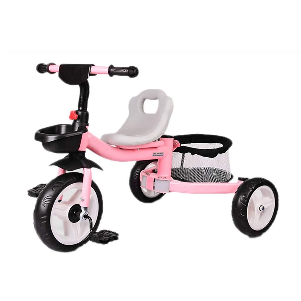 NBgy Baby Outdoor Blau Dreirad,3 In 1 Rosa Kinderdreirad,3-8 Jahre Alt Junge Mädchen Grün Dreirad, Kind Geburtstagsgeschenk Rosa