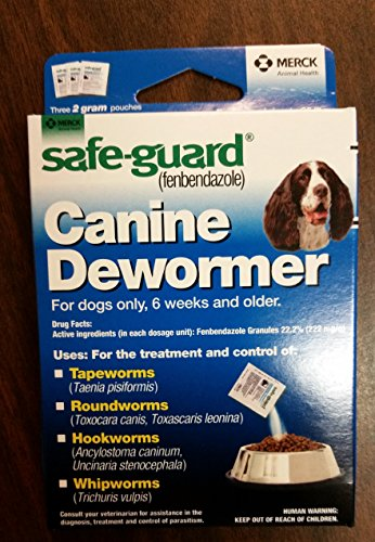 (2 Packages) 8in1 Safe-Guard Canine Dewormer - Three 2 Gram Pouches (per package) For Dogs Only, 6 Weeks and Older