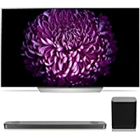 LG OLED65C7P 65 OLED 4K UHD HDR Smart TV with SJ9 5.1.2 Channel High Resolution Audio Soundbar with Dolby Atmos and Wireless Subwoofer