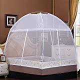 Nattey Bed Canopy Curtains Mosquito Net Tent With Bed Canopy Frame For Beds Home Bedroom Decor(Queen)