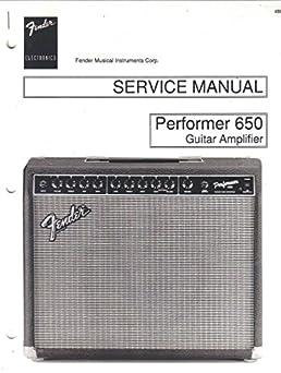 fender performer 650 amp guitar amplifier service manual repair rh amazon com Voice Amplifier Home Amplifier