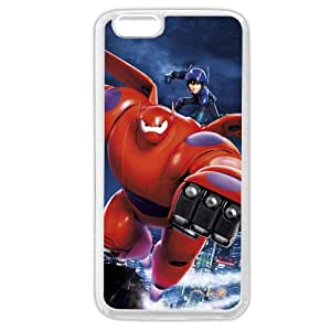 """Customized White Soft Rubber(TPU) Disney Cartoon Movie Big Hero 6 Baymax iPhone 6 Plus Case, Only fit iPhone 6+ 5.5"""""""