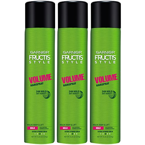 Garnier Fructis Style Volume Hairspray, All Hair Types, 8.25 oz. (Packaging May Vary), 3 Count by Garnier