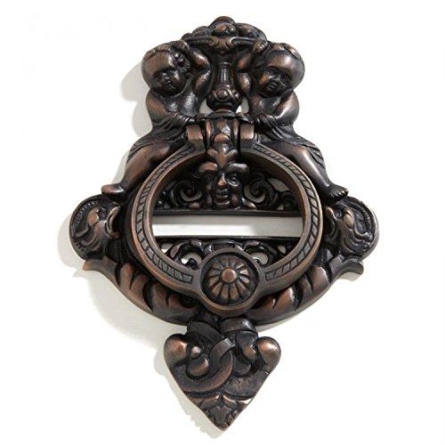 (Casa Hardware Solid Brass Cherubs Door Knocker - Oil Rubbed Bronze)