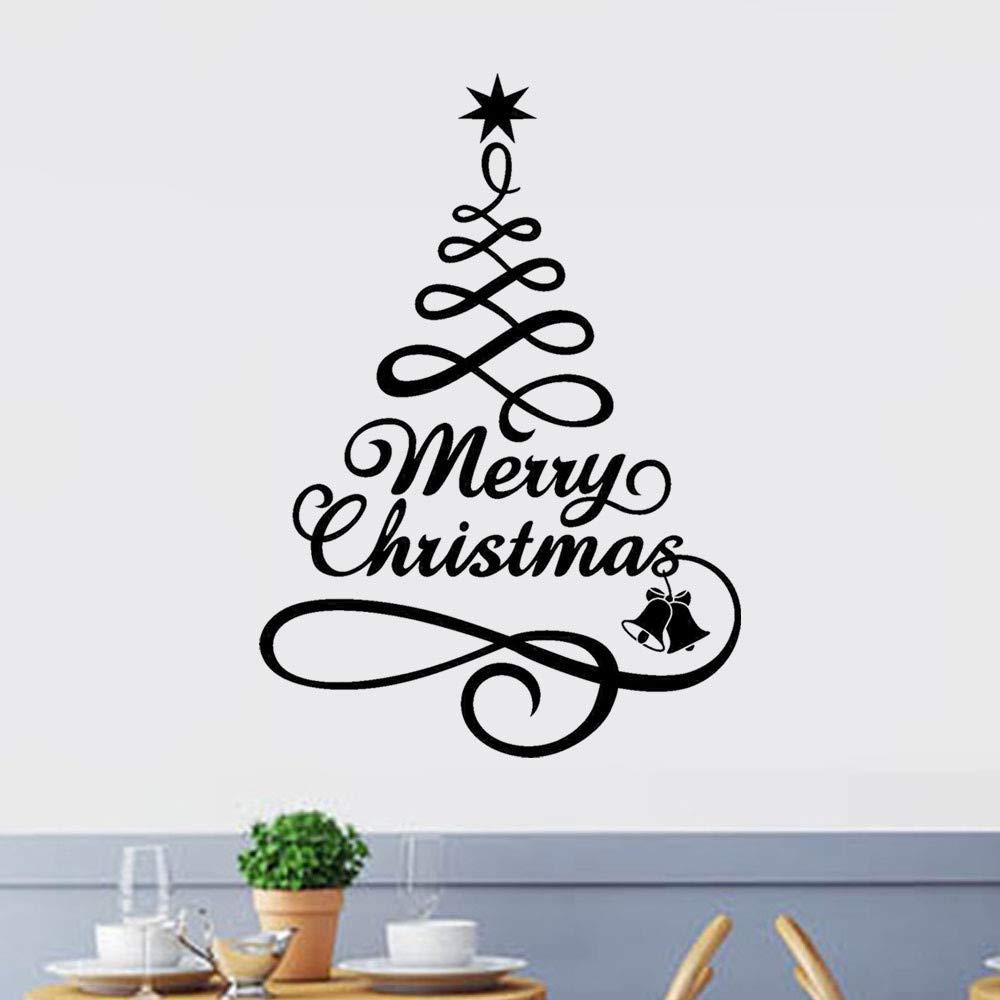 Mitlfuny✈✈✈Frohe Weihnachten Wandaufkleber, Weihnachtsbaum ...
