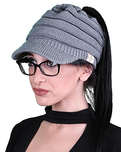 BT1-1322-51 CC 365 All Season Brim BeanieTail - Heather (Funky Cotton Hats)