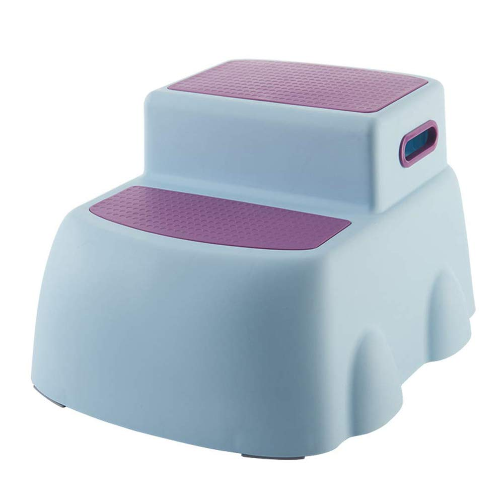 Two-Up Height Step Stool, Ergonomic Toddler Loo Potty Training, Footstool With Soft Anti-slip Dot Surface,Blue by HB Toilet Stool