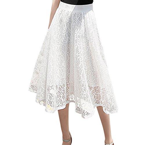 Taille tutu Blanc color multi d't Haut chic Femme en casual polyester lgant Jupe Femmes Mi Balai Longue pompom robe jupe robe Hxg0XqTwR