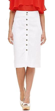 a36236deb8 Ladies Button Through Linen Pencil Skirt. 3 Colours. RRP: 25. Plus Sizes  16-28.: Amazon.co.uk: Clothing