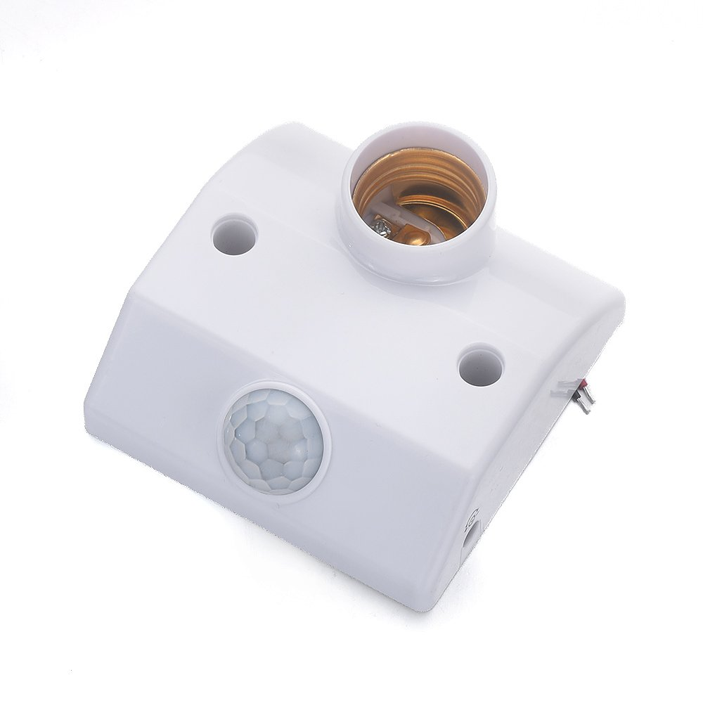 1PCS E27 AC180V~240V Working voltage Infrared Motion Sensor Automatic Lighting Control