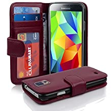 Cadorabo - Book Style Wallet Design for Samsung Galaxy S5 / S5 NEO (I5500) with 2 Card Slots and Money Pouch - Etui Case Cover Protection in PASTEL-PURPLE