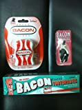 Bacon Toothpaste, Bacon Dental Floss & Bacon Toothpicks- Triple Sampler Gift Pack