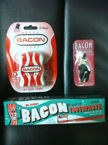 Bacon Toothpaste, Bacon Dental Floss & Bacon Toothpicks- ...