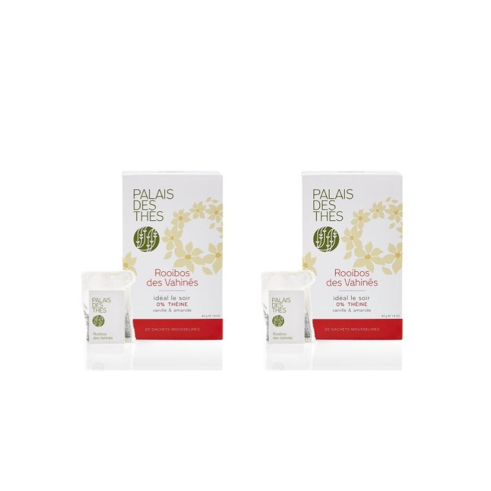 Palais des Thés Rooibos des Vahines Herbal Tea with Vanilla and Almond, 20 Tea Bags (40g/1.4oz) (Pack of 2) by Palais des Thés