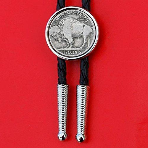 Indian Head Coin Western Bolo Tie
