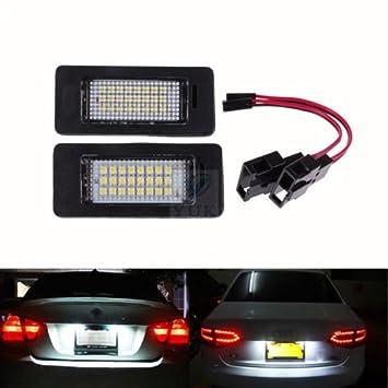Yuk 2 x número de licencia Plate lámpara de luz LED para A4 B8 A5 Q5 Passat S5 libre de errores: Amazon.es: Coche y moto