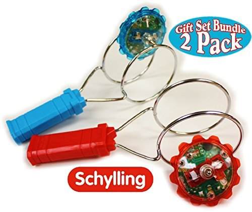 - Schylling Classic Light Up Magnetic YoYo Gyro Wheel Red & Blue Gift Set Bundle - 2 Pack