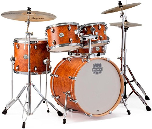 - MAPEX ST5045FIC Storm 5 Piece Fusion Drum Set with Chrome Hardware, Camphor Wood Grain