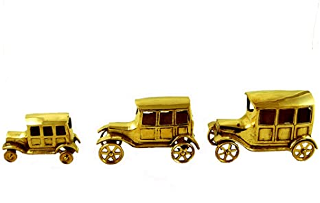Buy Indian Art Mantra Brass Handmade Vintage Dummy Brass 3 CARS SET