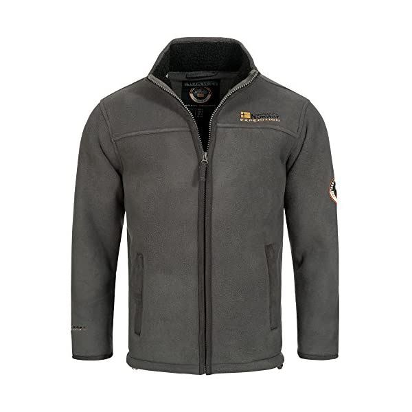 Geographical Norway, ULMAIRE, giacca in pile, da uomo, con calda fodera in pelliccia, taglia: da S a XXXL.