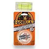 Gorilla Glue Heavy-Duty Double Sided Mounting Tape, 25.4 mm x 1.52 m with Bubble Leveler Tool