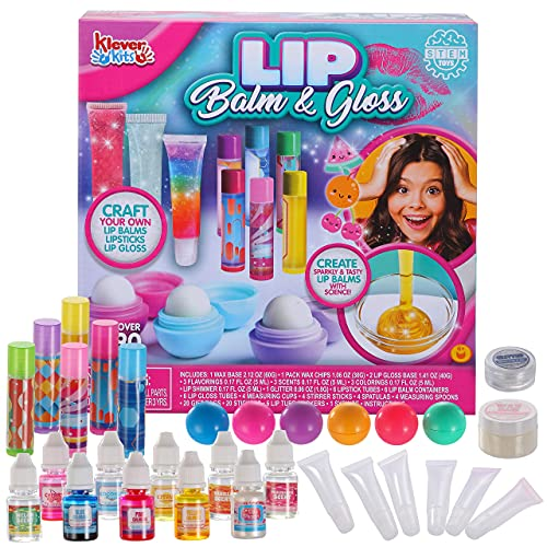 JOYIN Lip Balm Making Kit for Kids, Make Your Own Lip Balm Kit, 2-in-1 Stem Science Kit with Flavoring Scents and…